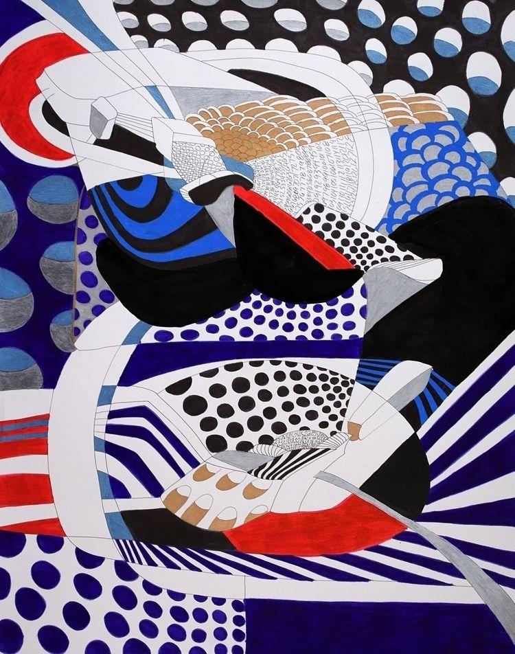 year 2017: Abstraction 16 - 22  - dannyartist | ello