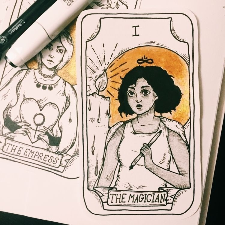 Magician  - ink, illustration, blackwork - mira_kss | ello