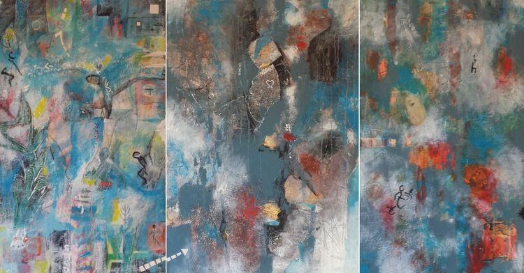 Triptych - Body/Soul/Mind acryl - glenhague | ello