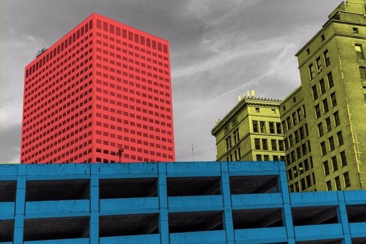 cleveland, red, blue, yellow - simon_madore | ello