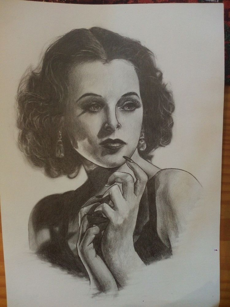 Hedy Lamarr - portrait, feminist - frozensoul | ello