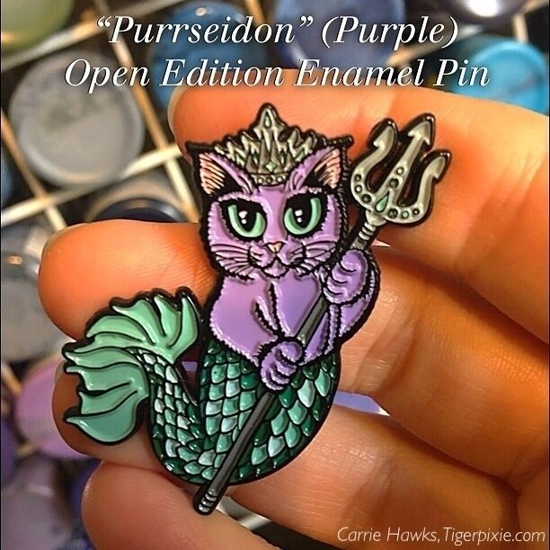 """Purrseidon"" (Purple) Open Edit - tigerpixie 
