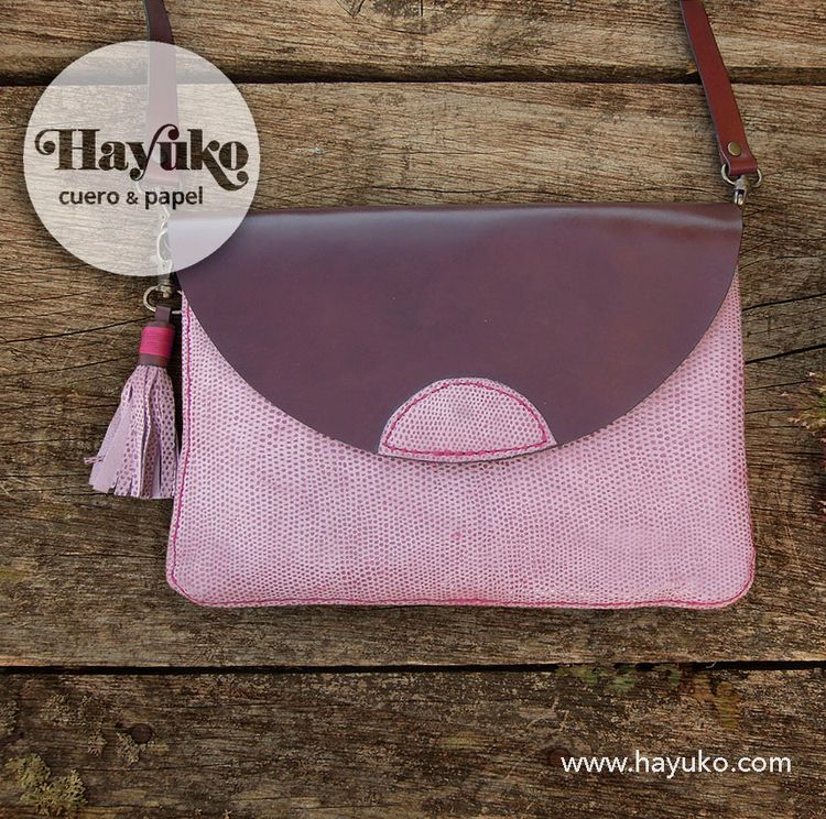 Handmade leather pink handbag  - hayukocueroypapel | ello