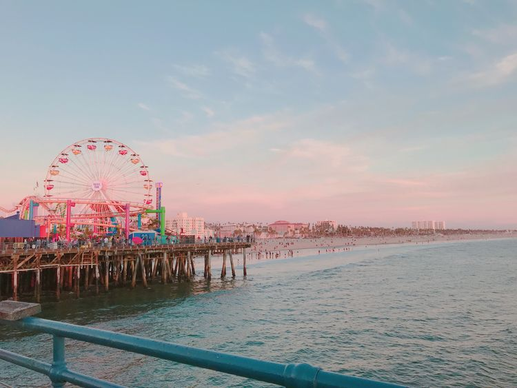 Cotton Candy skies Santa Monica - reginedumlao | ello