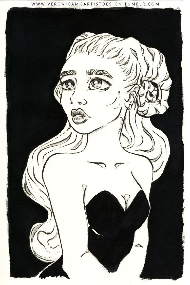art account - inktober, illustration - veronicamg_illustration   ello