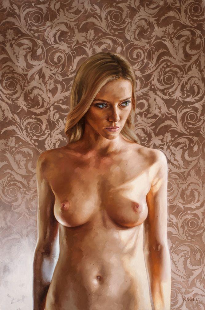 blonde, nude, painting, art - ukimalefu | ello