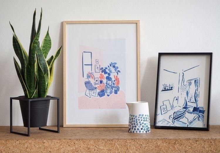 Risograph Print - Houseplant lo - jenelizacampbell | ello