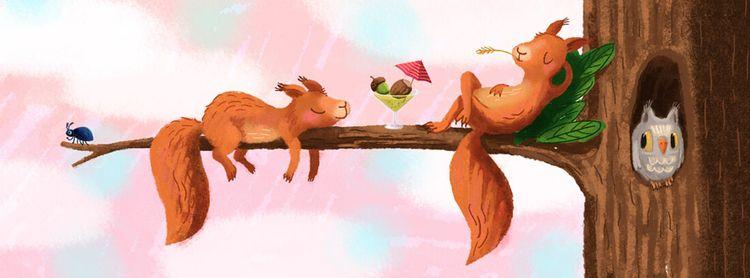 Spuirrels, hanging - personalwork - puikeprent | ello