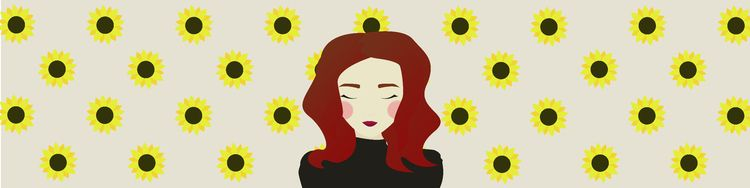 portrait favourite flower - illustration - ammeister | ello