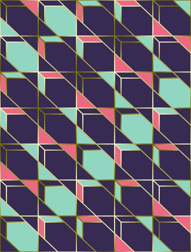 Ultra Deco 2 violet geometric c - designdn | ello
