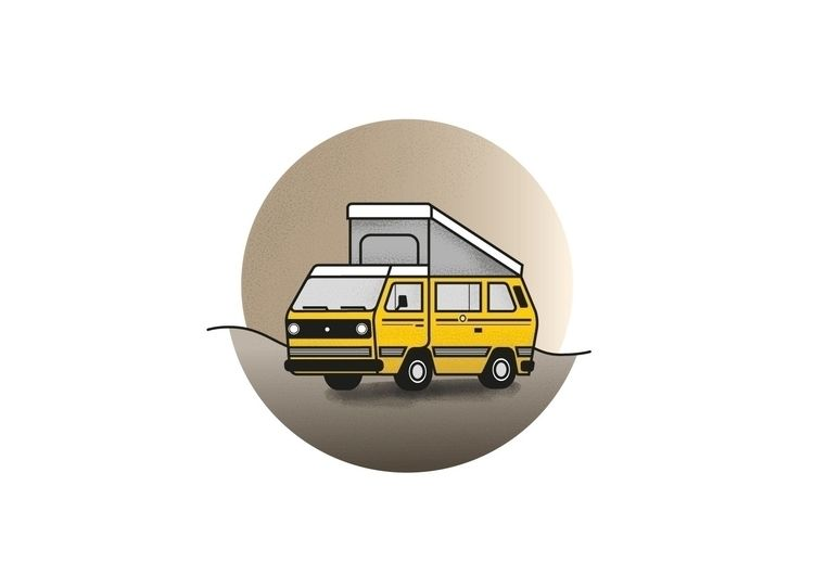 illustration, bulli, vanlife - tobiasweinhold | ello