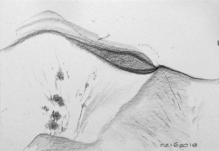 sketch, landscape, nature, pencil - mlui | ello