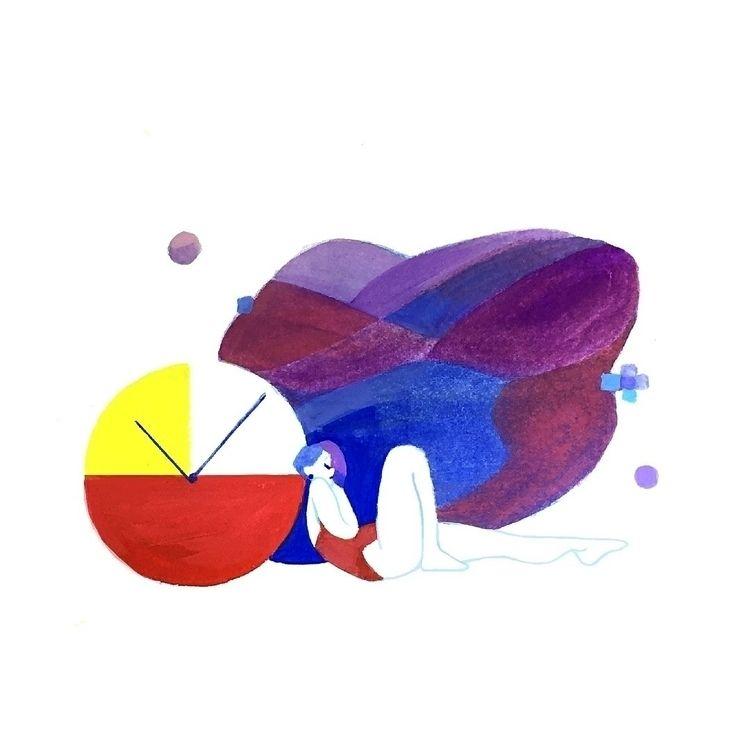 day flies sit time - artwork, illustration - joysuke | ello