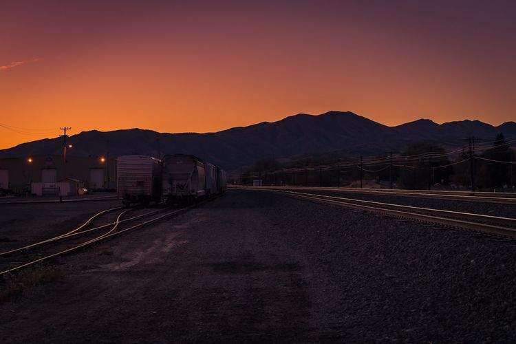 Rail Yard Dawn sun rises mounta - mattgharvey   ello