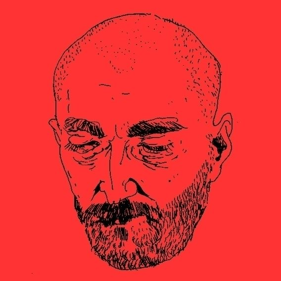 Face - drawing, minimalism, red - sashanikitina | ello