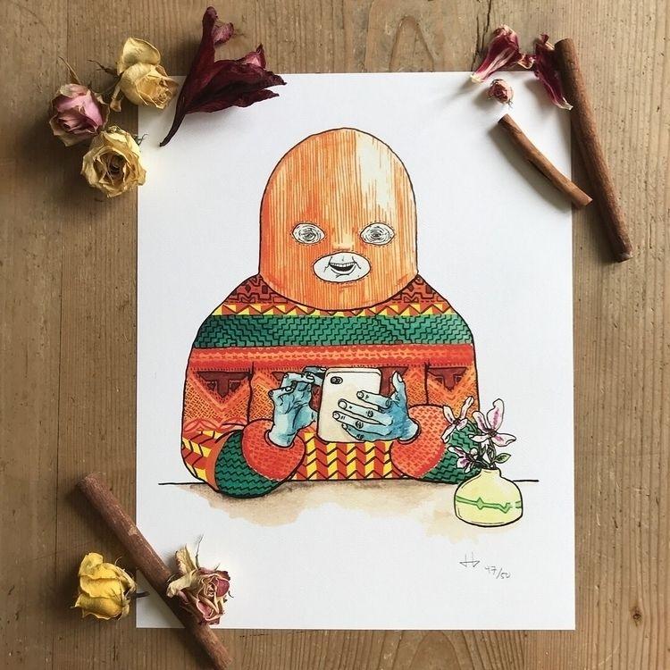 Prints sale. Sweaterman flowers - deadbeathero | ello