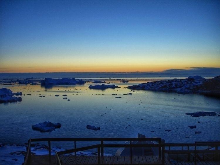 1) sun set Greenland trip. 2) C - scottterry   ello