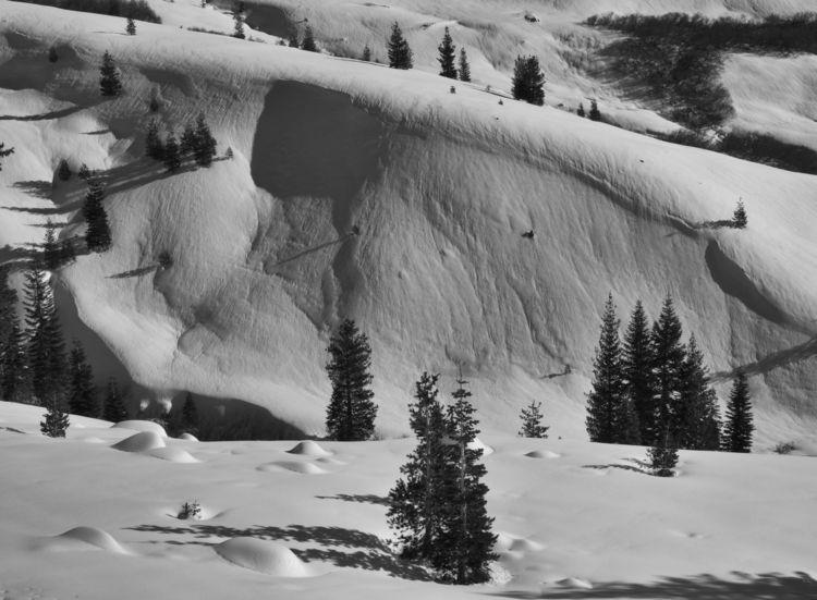 Drifting snow, Lassen Volcanic  - aaronvizzini | ello