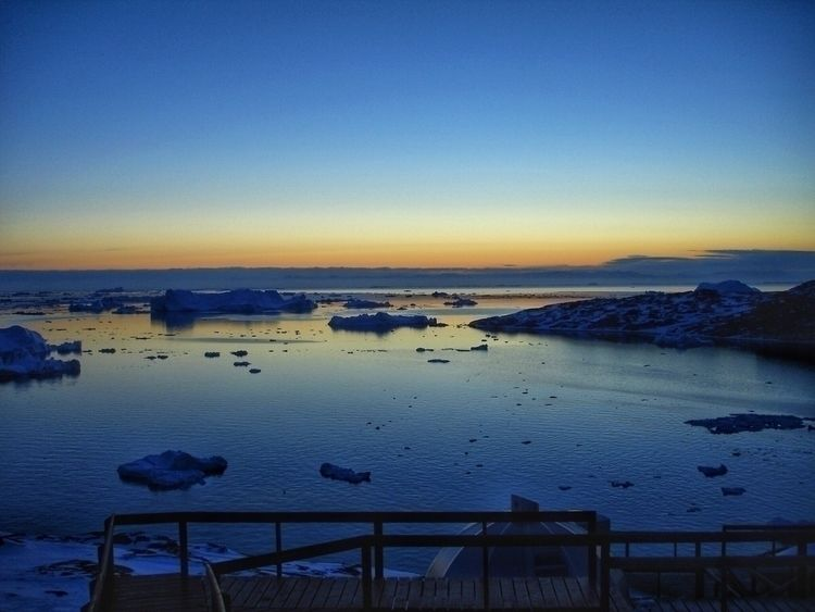 1) sun set Greenland trip. 2) C - scottterry | ello
