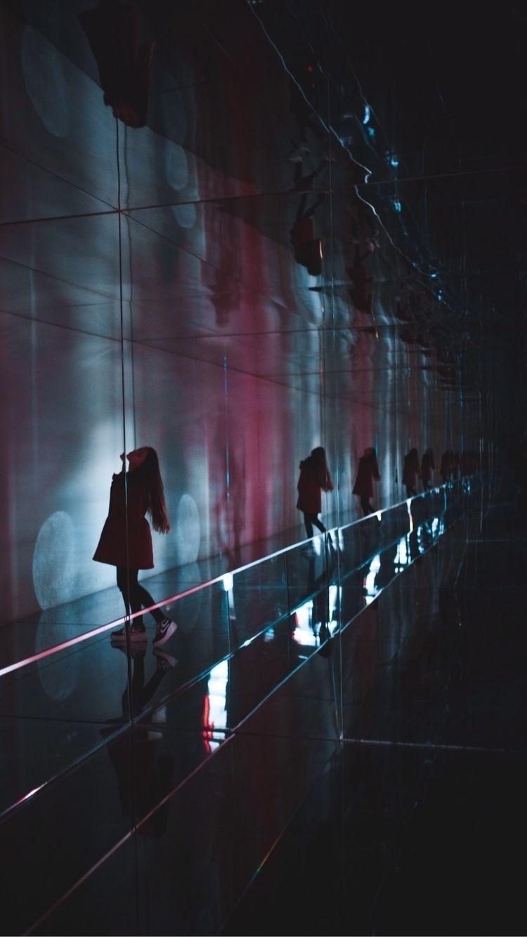 Infinity - mirrors, geometry, dark - phosphenes_e | ello