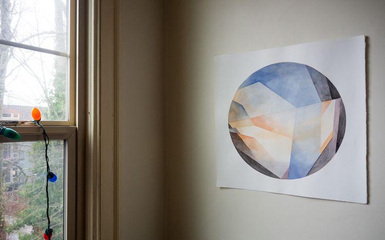 painting titled 'Horizon Dusk - watercolor - zhookie | ello