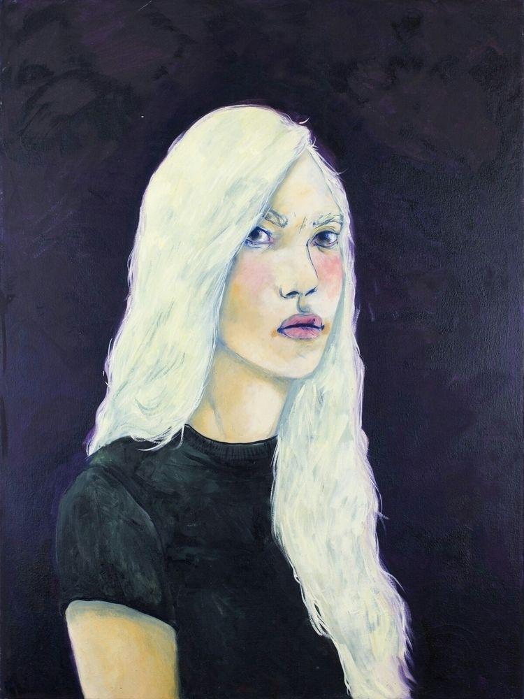 Skeptical- 30 × 40 oil canvas/  - amscout | ello