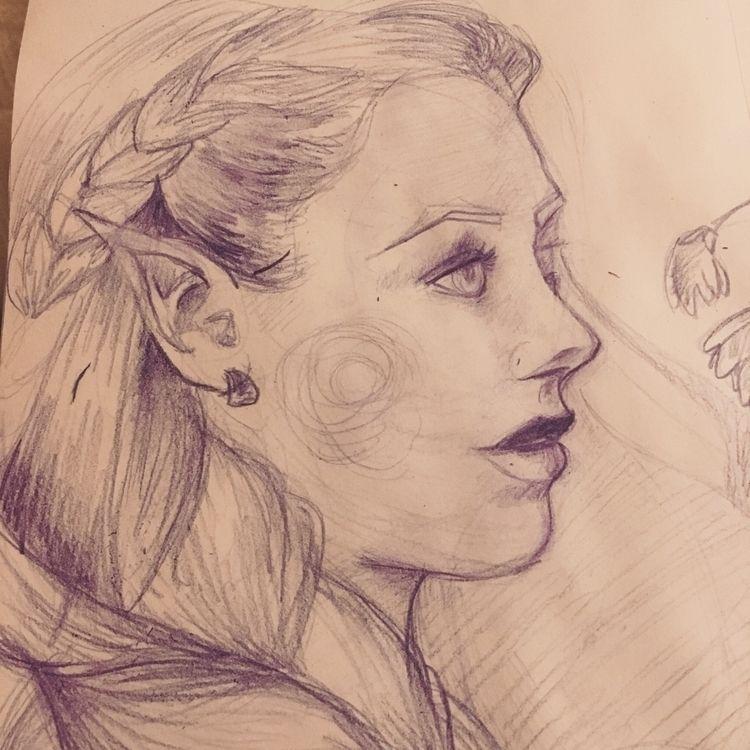illustration, coloredpencil, portraitart - smb26 | ello