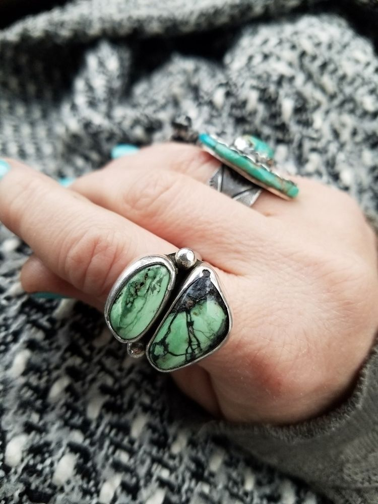 Orvil Jack turquoise ring, hard - eclecticblingjewelry | ello