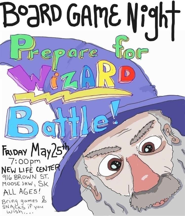 poster nerdy games night - wizard - magiccottagedrawings | ello