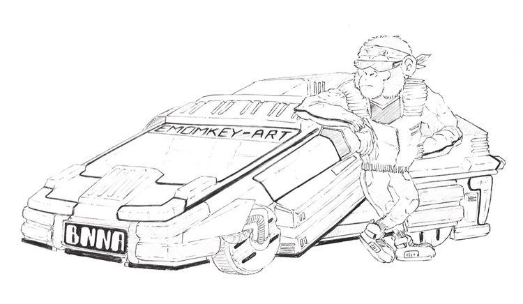 Retro-futuristic (blade runner  - emomkeyart | ello