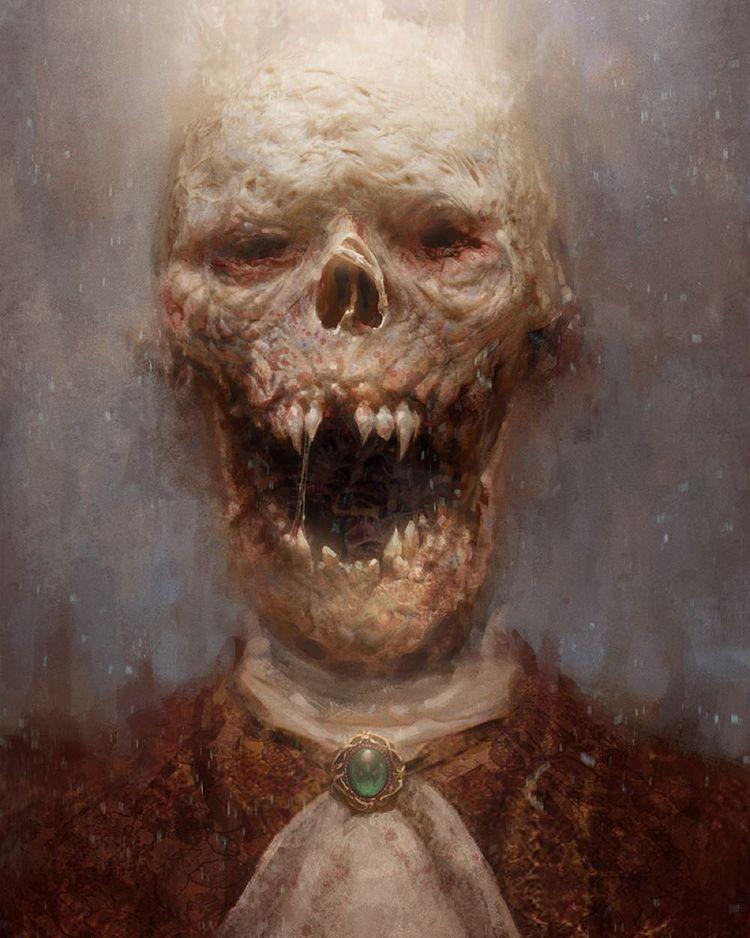 'Vampire Corpse' Jason Horley - darkart - creepmachine | ello