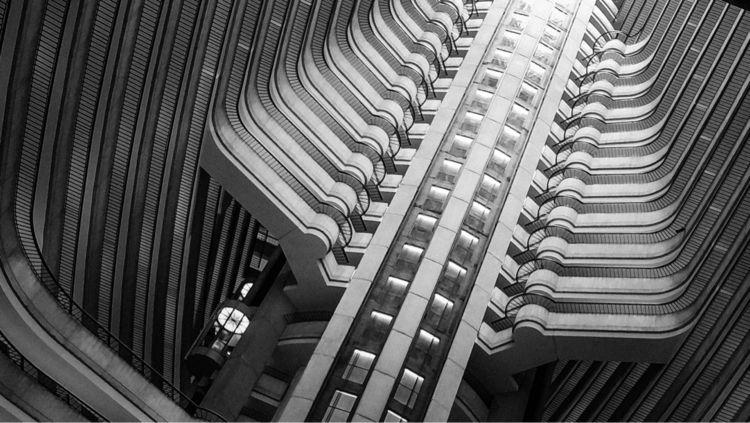blackandwhite, architecture, phone - underflow | ello