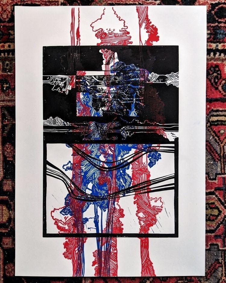 linocut experiment + A2 - poster - emil_underbjerg | ello