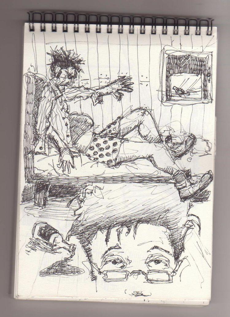 Sketching autobiographical comi - cjburgos | ello