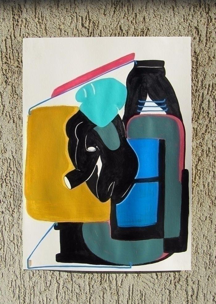 PAPER Acrylic paper size A3 - 2 - moonmambo   ello
