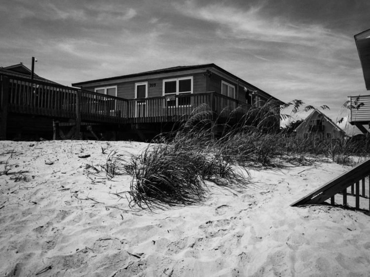 blackandwhite, beach, oakisland - underflow | ello