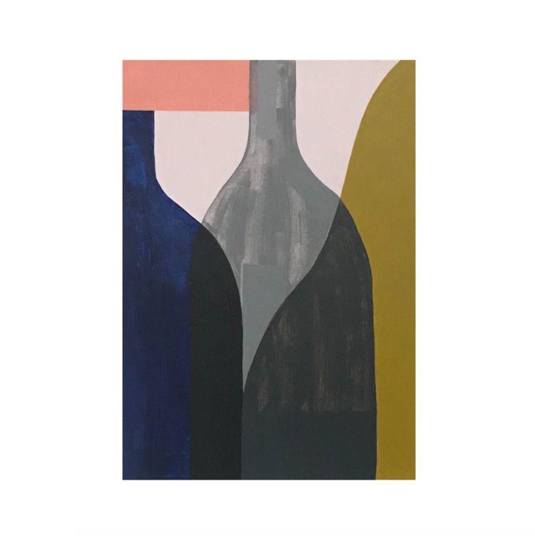 Wonky Bottles original painting - kitagar | ello