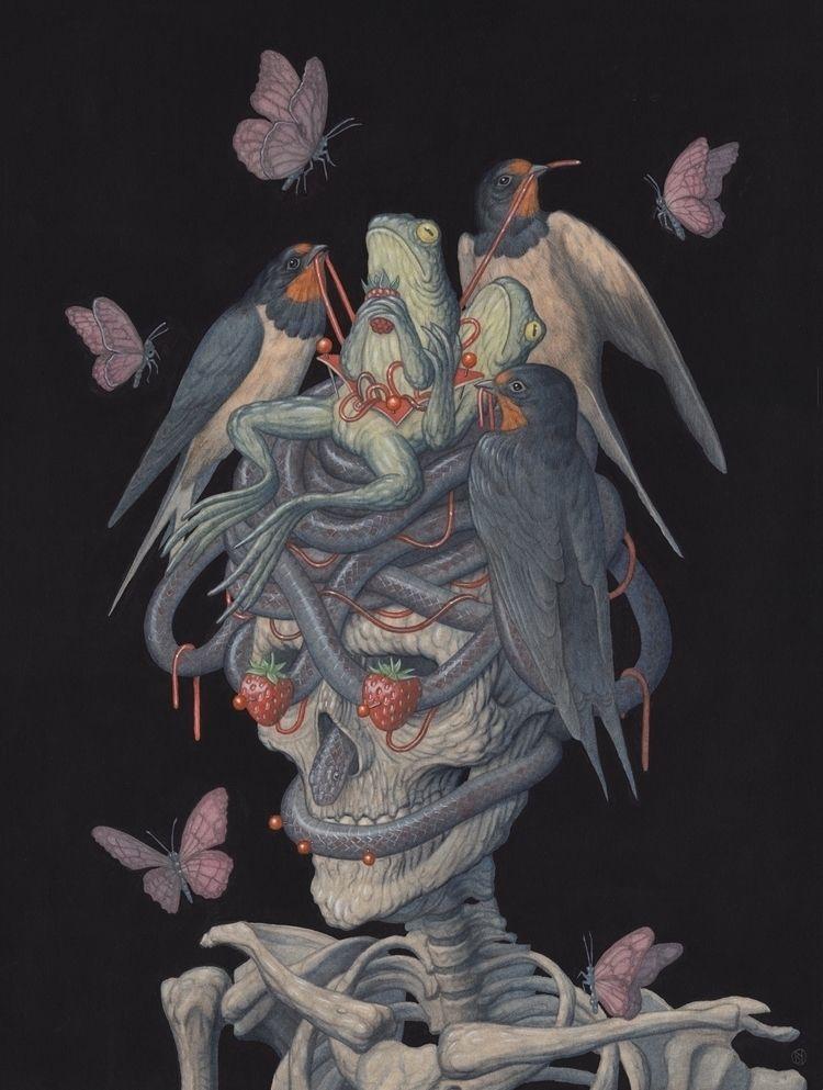 Nest. Graphite watercolour pape - nicksheehy | ello