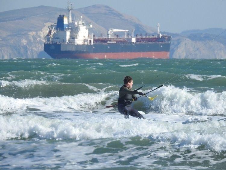 braving cold onslaught - kitesurfer - ellokitesurfers   ello