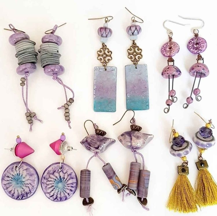 Purple Craft Earrings - Boucles - cocoflower | ello
