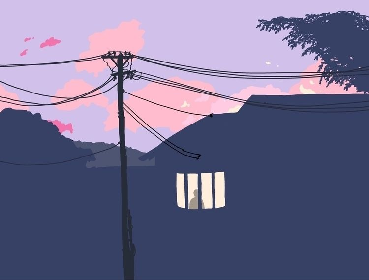 illustration, sunset - isaacstrati | ello