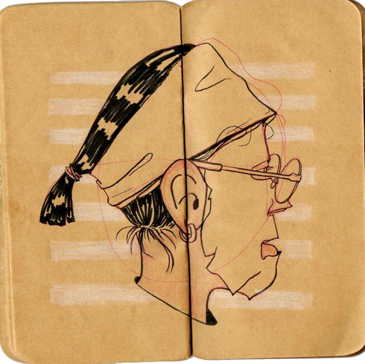 Morning Facial - pen, marker, sketchbook - solhae | ello