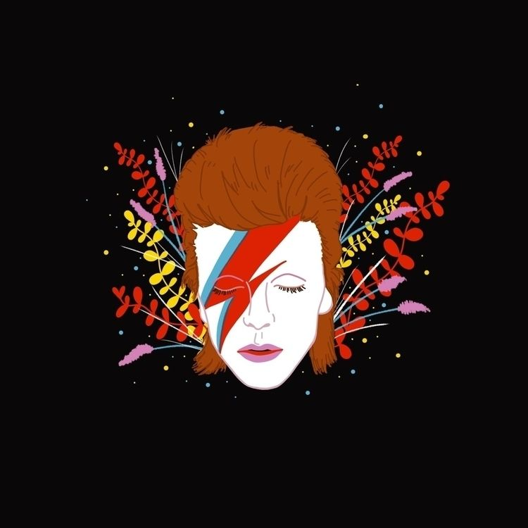 David Bowie :heart:️ - illustration - carinalindmeier | ello