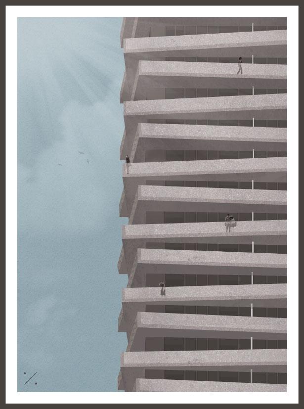 High Rise - illustration, Art, design - nadmad   ello
