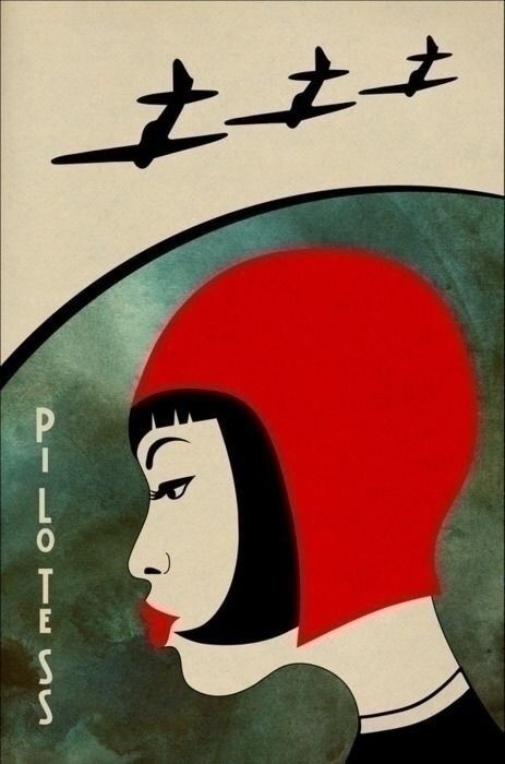 Pilotess poster - illustration, japan - temushka | ello