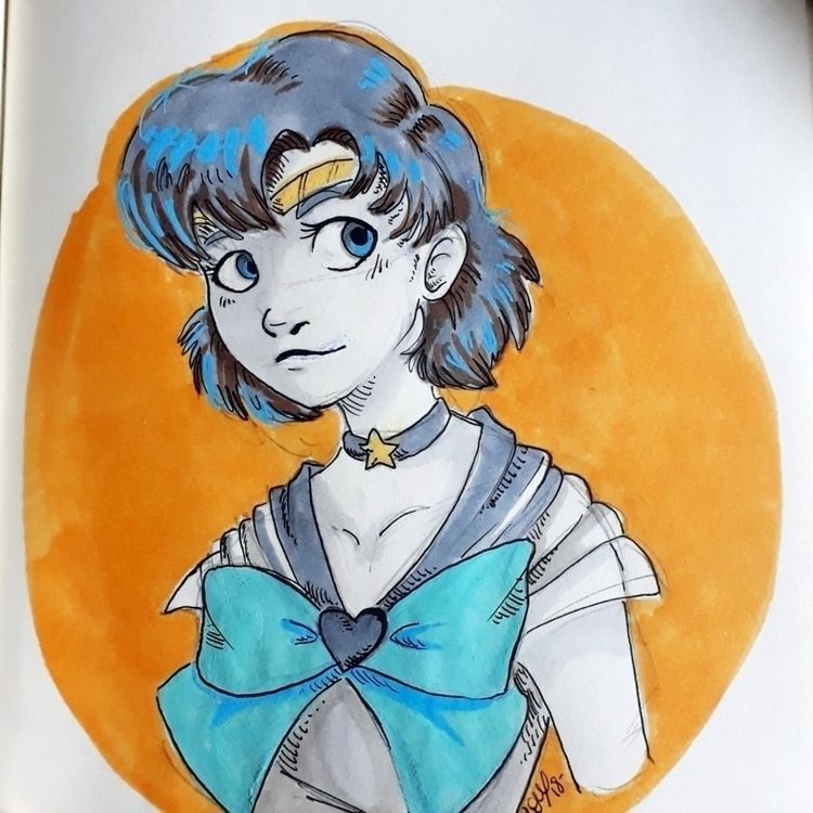 sailor mercury  - sailormoon, moon - loupeilann | ello