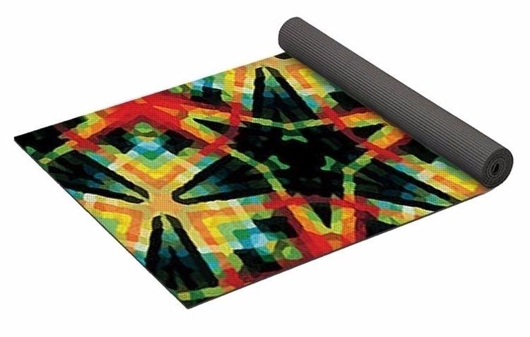 Tartan 1 Yoga Mat $80 purchase - skyecreativeart | ello