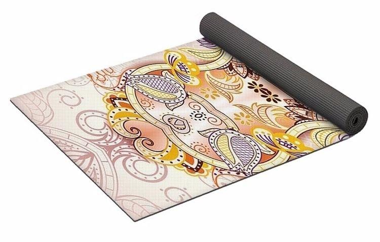 Ornate Cross 2 Yoga Mat $80 pur - skyecreativeart | ello