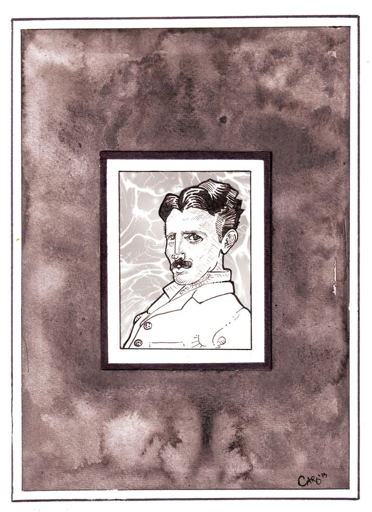 Nikola Tesla watercolor, ink, s - otterglitter | ello
