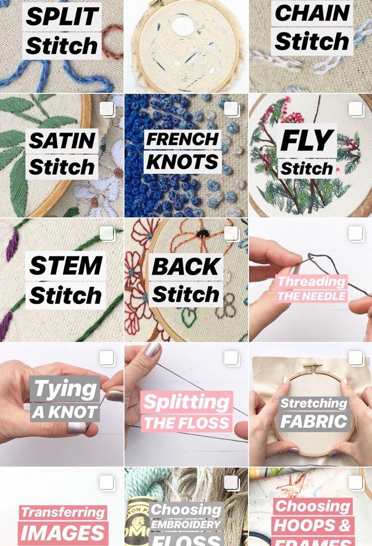learn hand embroidery - INSTAGR - nicholealvarado | ello